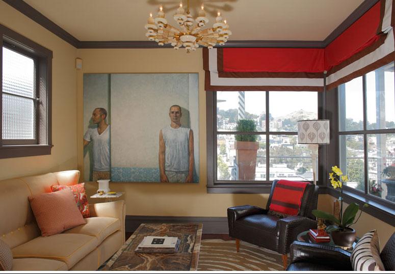 """Jay Jeffers interior""  Jay Jeffers: the San Francisco colorful interior designer Jay Jeffers Stump Rug"