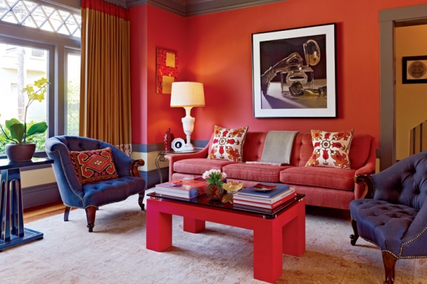 """Jay Jeffers living room""  Jay Jeffers: the San Francisco colorful interior designer jeffers residence 02"