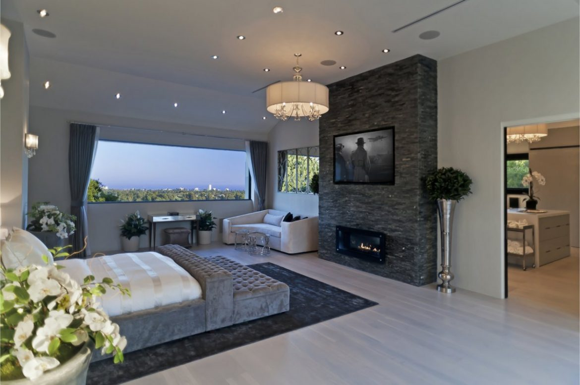interiors 10 fireplace design ideas san francisco home 16058 | the master bedroom has a huge fireplace with the tv above it the master bedroom has a huge fireplace with the tv above it