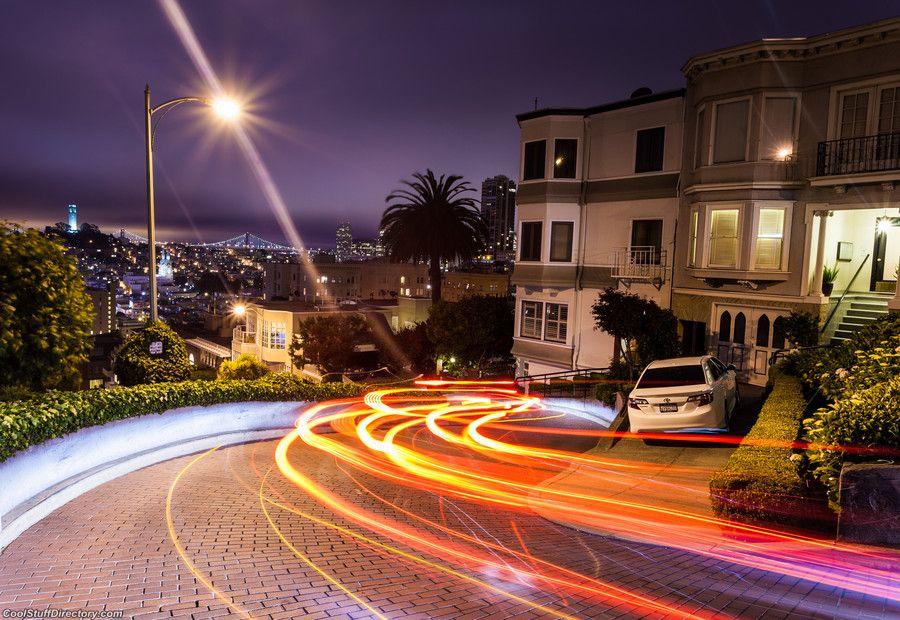 """Lombard Street in San Francisco at night"""