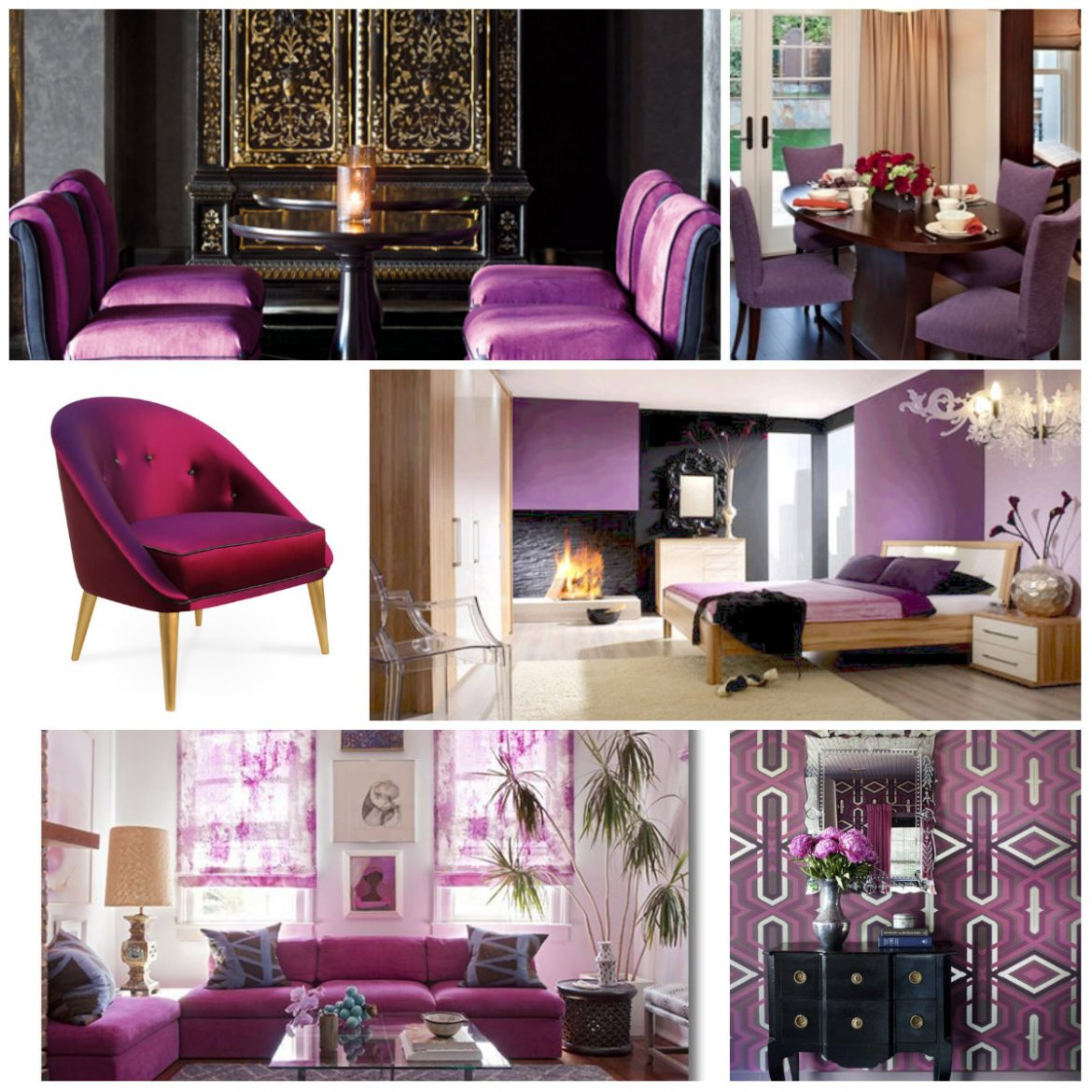"""""""Mood Board Radiant Orchid""""  Why we love Radiant Orchid so much moodboard"""