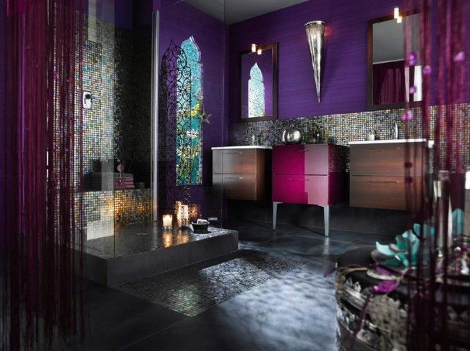 Five bathrooms decor inspired in world countries