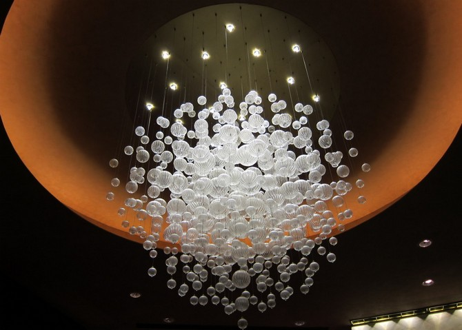 """Hotel Lobby: best white chandeliers"""