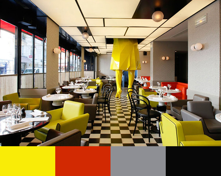 """Restaurant Color Schemes""  A matter of Color: Restaurant Interior Design Color Schemes  xavier4"