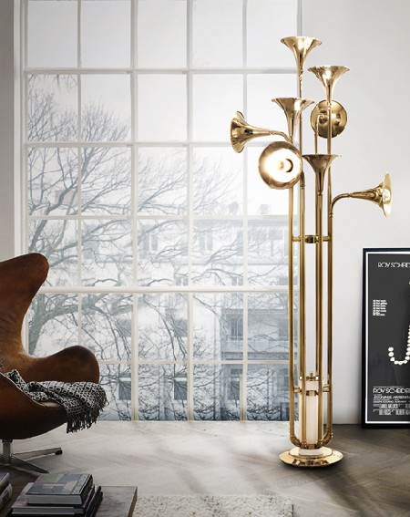 GET A MID-CENTURY MODERN STYLE WITH FLOOR LAMPS  GET A MID-CENTURY MODERN STYLE WITH FLOOR LAMPS botti floor handmade brass lamp 01