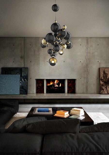 10 MODERN CHANDELIERS for a living room design  MODERN CHANDELIERS for a living room design delightfull atomic sputnik multi light sculptural sphere pendant chandelier 01